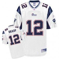 a28487b25 Reebok New England Patriots Tom Brady Authentic 12 White Jerseys Sale
