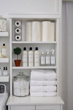 Who says wine holders are just for wining and dining? The Laundress uses the stackable Fridge Binz Wine Holder to efficiently and vertically hold extra bottles of The Laundress Signature Detergent! Linen Closet Organization, Laundry Room Organization, Laundry Room Design, Closet Storage, Storage Shelves, Laundry Storage, Laundry Rooms, Storage Organization, Organizing Ideas