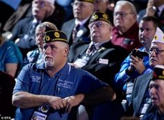 The President is NOT well liked by these veterans.  I really don't understand why he was welcomed to speak at all.