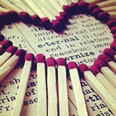 matches in a heart... <3