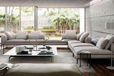 The Michel sofa is created by Antonio Citterio and produced by B&B Italia, leader in made in Italy design, is reserved for comfort lovers. Michel sofa reflects the design philosophy of its designer, lover of simple, clean, linear and elegant shapes. Michel by B&B Italia is a modern sofas system, stripped of all its decorative enrichment, esclusivament devoted to functionality. B&B Italia realizes Michel sofa in a wide range of composition, to ensure a wide range of configurations,...