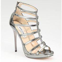 Jimmy Choo Heels 2013 | Home > Jimmy Choo Bridal Shoes > Jimmy Choo Strappy Mirrored Leather ... #bridalshoeshighheels #jimmychooheelsstrappy #jimmychoobridal