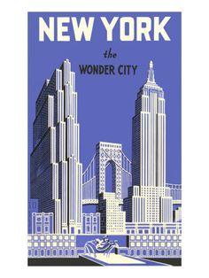 New York, the Wonder City Art Print at AllPosters.com