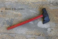 Vintage 1950s Toy Tomahawk by Auburn Toys Wood & rubber toy by rustandrepeat, $10.00