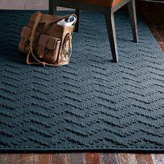 Navy rug, west elm