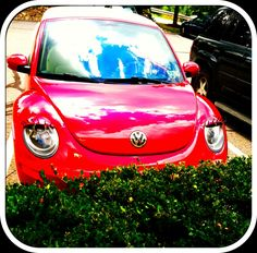 Volkswagen Beetle with Eyelashes...too cute!