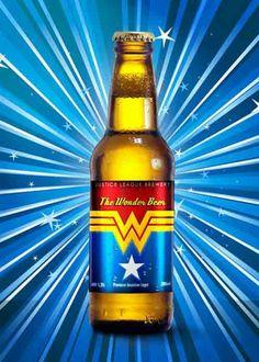 Coole Bierflaschen Etiketten von Superhelden