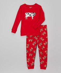 Look at this #zulilyfind! Cow Pajama Set Cow - Infant, Toddler & Kids #zulilyfinds