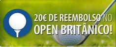 Aposte no Open Britânico, e receba até 20€ de reembolso! #OpenBritish #golf