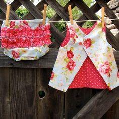 PDF Dress Pattern  Easy Reversible Baby Dress Sewing Pattern