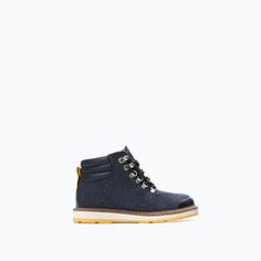 Image 1 of COMBINED LEATHER MOUNTAIN BOOT from Zara