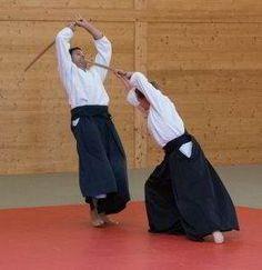 Fotos vom Aikido Verbandslehrgang im Budokan Wels am 13. und 14. Mai 2017. Im Rahmen dieses Lehrgangs legten 5 Vereinsmitglieder erfolgreich Ihre Danprüfungen ab: Waffen bei der Danprüfung