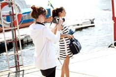 Behind the scenes of Style of the week. Striped dress from by Malene Birger. Malene Birger, Striped Dress, Behind The Scenes, Coat, Jackets, Inspiration, Dresses, Style, Fashion