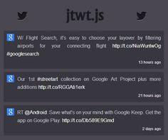 jtwtjs jquery plugin for twitter json api
