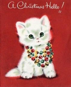 Kitten with garland necklace