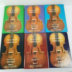 Samuel Applebaum The  WAY THEY PLAY Lot of 6 Books 1 2 3 4 5 6 Violin No Way, Book 1, Play, Gift, Products, Gifts, Gadget
