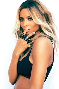 Ciara #ombre #hair. I definitely want to do this to my hair!!!!!