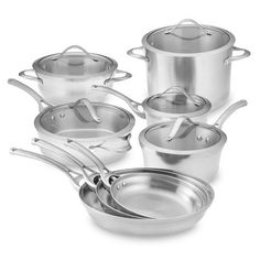 I love the Calphalon Contemporary Stainless-Steel 13-Piece Set on Williams-Sonoma.com...they are my dream cookware!