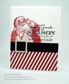 Stampin Up, Santa's List and Magical Season stamps, Dawn Olchefske, #DOstamping, Christmas Cards, #stampinup