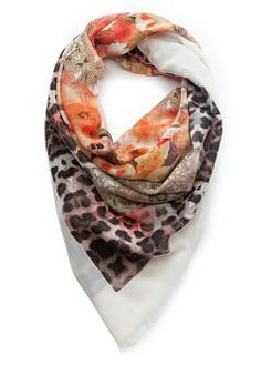 MANGO - Accessories - Foulards and Neck Scarves - Mixed print scarf
