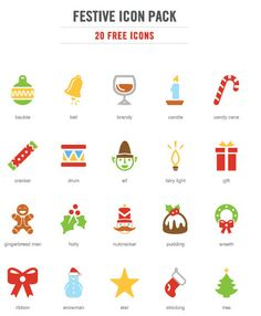 Freebie: Festive Christmas Icon Pack (20 .EPS Icons) | Smashing Magazine