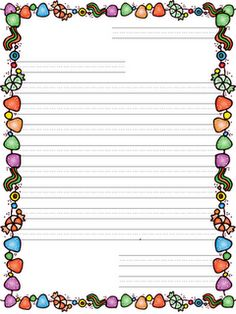 Christmas primary lined writing paper school and homeschool spiritdancerdesigns Gallery