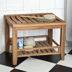 teak shower stool - Google Search