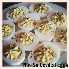 healthy deviled eggs made with milk kefir Healthy Homemade Snacks, Healthy Summer Recipes, Savory Snacks, Healthy Appetizers, Kefir Recipes, Milk Recipes, Cooking Recipes, Nut Milk Recipe, Soy Sauce Alternative