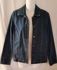 SO Blue Sigrid Olsen Denim Jean Jacket  Size Small #SigridOlsen #JeanJacket
