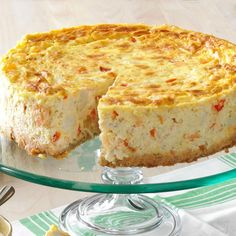 Crab Cheesecake Recipe, Savory Cheesecake, Seafood Appetizers, Seafood Dishes, Appetizer Recipes, Brunch Appetizers, Seafood Platter, Fish Recipes, Seafood Recipes