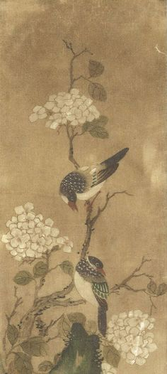 flowers-and-birds-korean-paintings-ananzon.jpg (400×892) Shin Saimdang