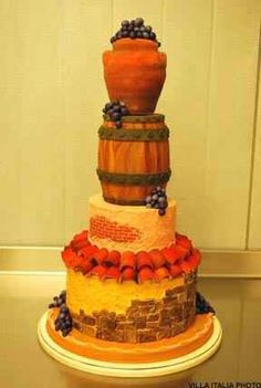 Six Beautiful Fall Wedding Decorating Ideas Fall Wedding Cakes, Fall Wedding Decorations, Wedding Cake Designs, Wedding Cake Toppers, Wedding Ideas, Unique Cakes, 3 Things, Amazing Cakes, Wedding Flowers