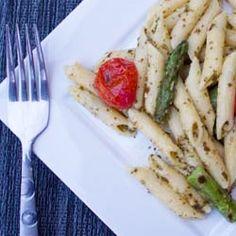 Asparagus and Tomato Pesto Pasta by nicolehcook