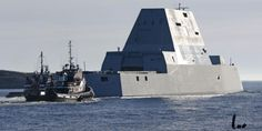 The Navy's Colossal Stealth Destroyer Heads Out to Sea