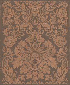 "Artisan Gloriana 33' x 20"" Damask Wallpaper"