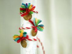Martenitsa  Set Of Three Bracelet  With Small by FeltArtByMariana, $10.50