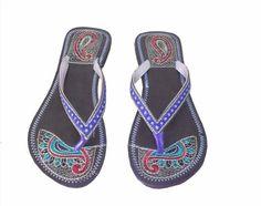 20.99$  Buy here - http://vialx.justgood.pw/vig/item.php?t=8jpn25658247 - Women Indian Handmade Leather Mojari Shoes Slipper Sandal