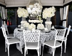 Old Hollywood glam outdoor dining