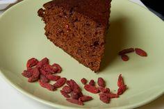 Torta al cacao con bacche di Goji