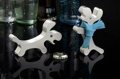 REFLECTS chien ouvre-bouteille en aluminium de qualité tHORNABY argent: Amazon.fr: Cuisine & Maison