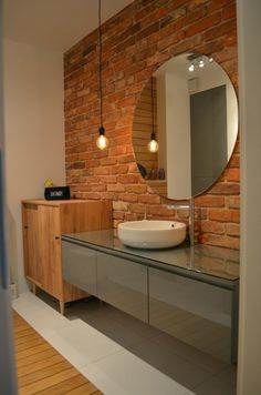 Give your bathroom a contemporary look with a collection of modern bathroom light fixtures. Washroom Design, House Bathroom, Lighted Bathroom Mirror, Contemporary Bathroom Lighting, Round Mirror Bathroom, Luxury Bathroom, Beautiful Bathrooms, Bathroom Inspiration, Small Bathroom Remodel