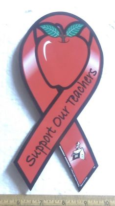 Support Our Teachers Magnetic Ribbon