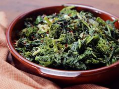 Sauteed Garlic Broccoli Rabe Recipe : Nancy Fuller : Food Network - FoodNetwork.com