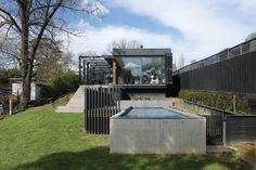 """This """"open and transparent"""" addition is tucked neatly behind a weatherboard house in Melbourne's leafy inner north."""