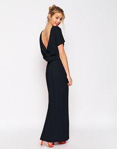 ASOS Cowl Back Crepe Maxi Dress