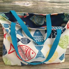7f2195382e Check out our new reversible fish beach tote bag! Beach Items