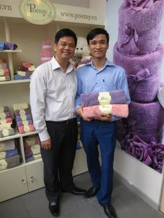 The first customer who buys Poemy towel in the Opening Ceremony of M2 Shop - Dien Bien Phu Hanoi