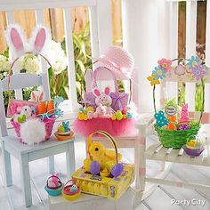 Hand out Easter baskets bursting with bunnies, Easter eggs, candy and so much more!