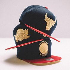 62693d65f2d51 Go for the Gold in Mitchell and Ness USA Snapbacks