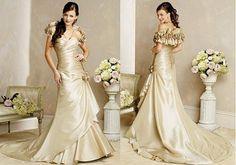 stunning gowns | Stunning Wedding dress Stunning Gold Wedding Dresses